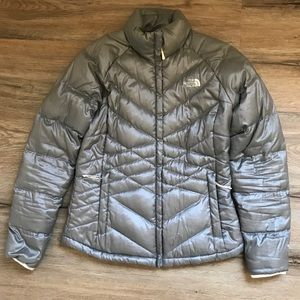 THE NORTH FACE Women's Gray Puffer Jacket Medium